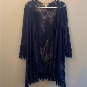 Lace Fringed Duster